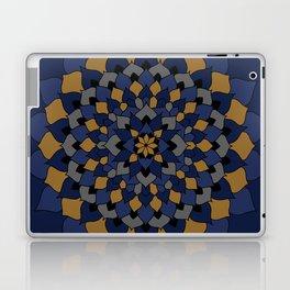 Blue & Bronze Floral Mandala Laptop & iPad Skin