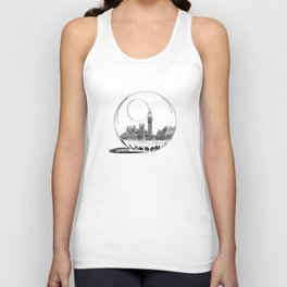 London in a glass ball . art Unisex Tank Top