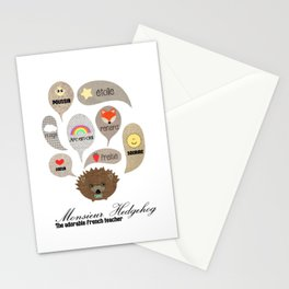Monsieur Hedgehog Stationery Cards