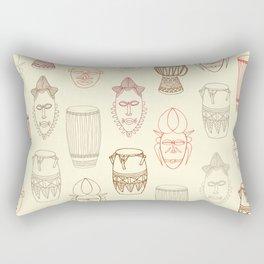 African drums and masks Rectangular Pillow