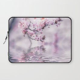 Zen Style Cherry Blossom and Water Laptop Sleeve