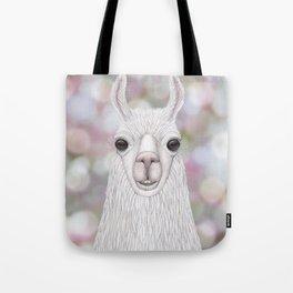 Llama farm animal portrait Tote Bag