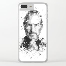 Steve Jobs splatter painting Clear iPhone Case