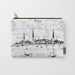 Riga 1544 (black on white) Carry-All Pouch