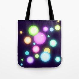 Magical Colorful Glowy Orbs Tote Bag