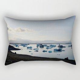 Sunset at Jokulsarlon Rectangular Pillow