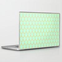 mermaid Laptop & iPad Skins featuring Mermaid  by Aneela Rashid