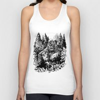 sasquatch Tank Tops featuring PACIFIC NORTHWEST SASQUATCH by RAPIDPUNCHES