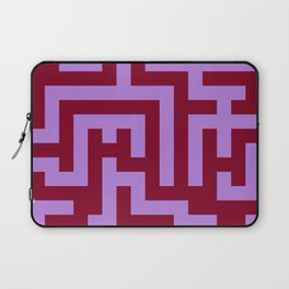 Lavender Violet and Burgundy Red Labyrinth Laptop Sleeve