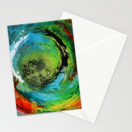 Maelstrom, captivating abstract painting Stationery Cards