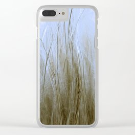 Feather Grass Clear iPhone Case