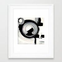 clockwork Framed Art Prints featuring CLOCKWORK  by Linnea Heide
