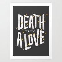 Death from a love Art Print