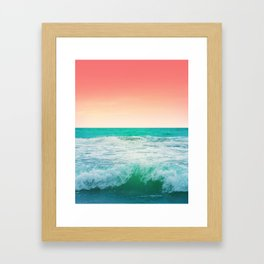 Aqua and Coral, 3 Framed Art Print