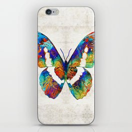 Colorful Butterfly Art by Sharon Cummings iPhone Skin