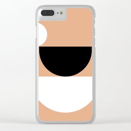 15   190508 Geometric Abstract Design Clear iPhone Case
