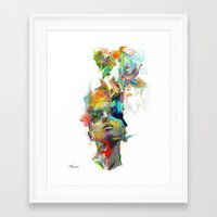 black and gold Framed Art Prints featuring Dream Theory by Archan Nair