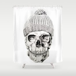 Skull with Hat Shower Curtain