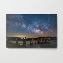 Milk Way over Lake Cuyamaca, CA Metal Print