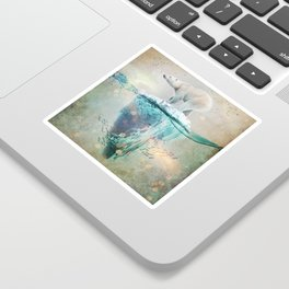Polar Bear Adrift Sticker
