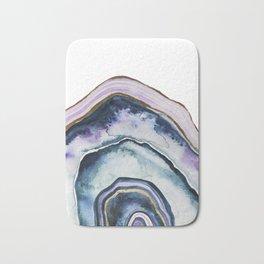 Purple Agate Watercolor Bath Mat