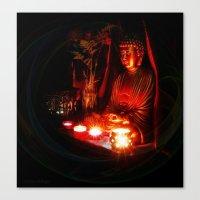 meditation Canvas Prints featuring Meditation by Christine Belanger