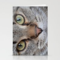 arya Stationery Cards featuring Cat by Kellie Eickstead