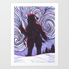 Santa Clawz Art Print