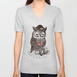 Strange Owl Unisex V-Neck