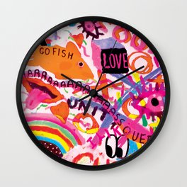 Pop Trash Wall Clock
