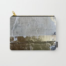 Elegantly Rough: an abstract, minimal piece in gold, pink, black and white by Alyssa Hamilton Art Carry-All Pouch