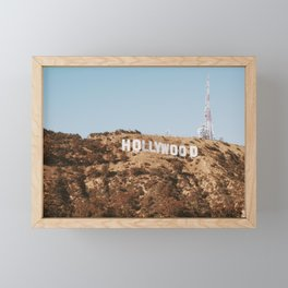 Hollywood Sign, California Retro Vintage Fine Art Landscape Photography Framed Mini Art Print