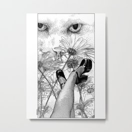 asc 457 - La rêverie interrompue (Torn from her lazy daydreaming) Metal Print
