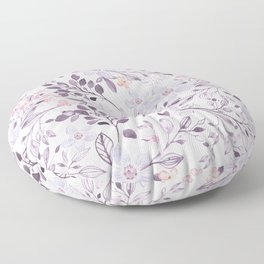 Hand painted modern pink lavender watercolor floral Floor Pillow