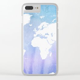 World map Pole win Clear iPhone Case