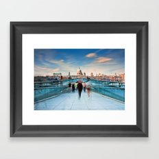 On The Bridge Framed Art Print