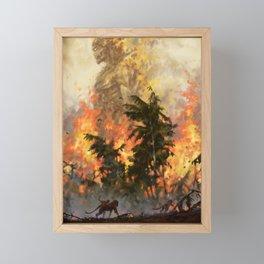 The fire demon of the rainforests Framed Mini Art Print