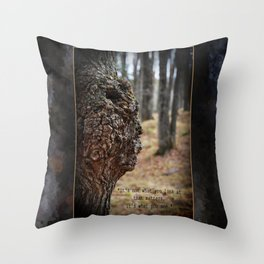 Face in Tree ~ What You See  Throw Pillow