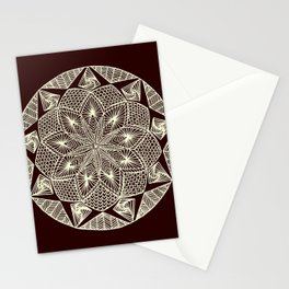 Maroon Mandala Stationery Cards