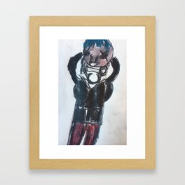 Me a self portrait Framed Art Print