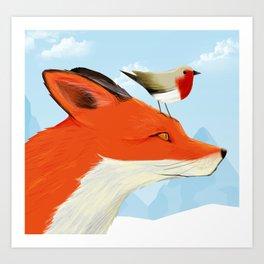 Bird & Fox Art Print