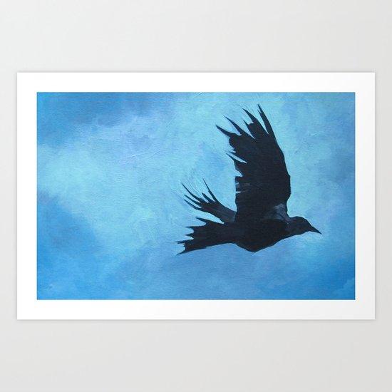 As The Crow Flys Art Print