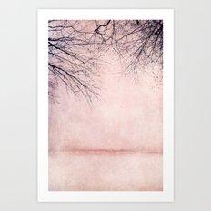 rosa winter Art Print