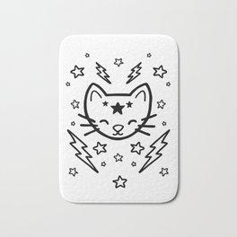 Mystic Cat - Black Bath Mat