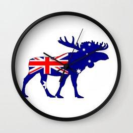 Australian Flag - Moose Wall Clock
