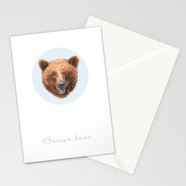 Brown Bear portrait Stationery Cards