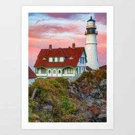 Portland Head Light at Fort Williams Park - Cape Elizabeth Maine USA Art Print
