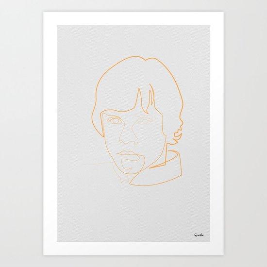One line Skywalker Art Print