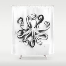 Flat Octopus Shower Curtain