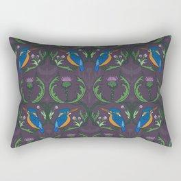 Kingfisher & Thistles (purple) Rectangular Pillow